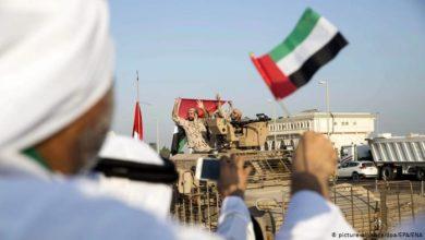 """Photo of """"الإمارات"""" تسحب مجموعة جديدة من قواتها عبر ميناء عدن"""