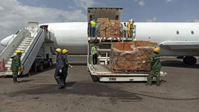 "Photo of وصول طائرة أممية تحمل مستلزمات طبية خاصة بـ ""كورونا"" إلى صنعاء"