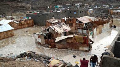 Photo of تضرر 1024 اسرة نازحة جراء الأمطار التي شهدتها عدن خلال الساعات الماضية