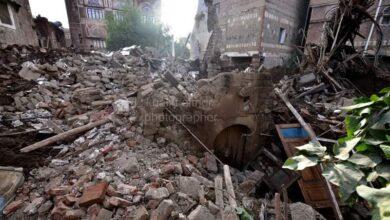 """Photo of انهيار منزل الشاعر عبد الله البردوني بـ """"صنعاء"""" القديمة جراء الأمطار الغزيرة"""