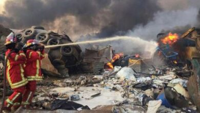 Photo of ارتفاع عدد ضحايا انفجار مرفأ بيروت إلى 100 قتيل و4 آلاف جريح
