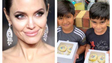 "Photo of الممثلة العالمية ""أنجلينا جولي"" تتبرع لحملة أطلقها طفلان بريطانيان لمساعدة أطفال اليمن"