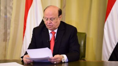 """Photo of """"هادي"""" يرفض إعلان الحكومة الجديدة قبل تنفيذ """"الانتقالي"""" للشق العسكري لاتفاق الرياض"""