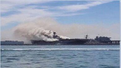 Photo of هيئة بريطانية تقول إن سفينة تعرضت لانفجار في خليج عُمان